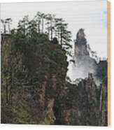 Zhangjiajie National Forest Park In China Wood Print