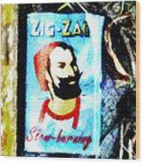 Zig Zag Double Wide Wood Print