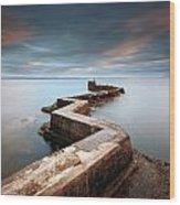 Zig-zag Pier Wood Print