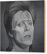 Ziggy Stardust Wood Print