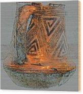Zigzag Mug With Handle Wood Print