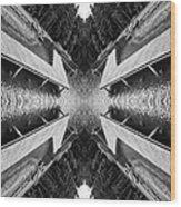 Zigzag Pier Illusion D Wood Print