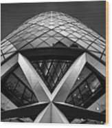 Zigzag (the  Gherkin) Wood Print