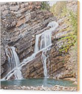 Zigzag Waterfall Wood Print