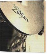Zildjian Hi-hat Sepia Wood Print