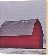 Zink Rd Farm 1 In Winter White Wood Print