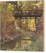 Zion Bridge Wood Print