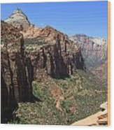 Zion Canyon Overlook Wood Print