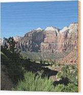 Zion Canyon View Wood Print