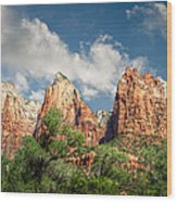 Zion Court Of The Patriarchs Wood Print
