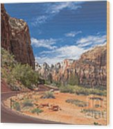 Zion Mount Carmel Highway Wood Print