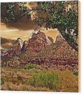 Zion National Park Work Of Art  Wood Print