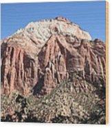 Zion Park Mountainscape Wood Print