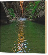 Zion Reflections - The Narrows At Zion National Park. Wood Print