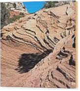 Zion Ripples Wood Print