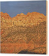 Zion Sunset Panorama Wood Print