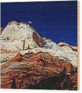 Zions Mount Wood Print