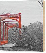 Zoar Bridge Wood Print