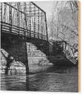 Zoar Iron Bridge Wood Print