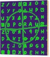 Zodiac Killer Code And Sign 20130213p128 Wood Print