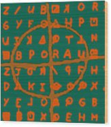 Zodiac Killer Code And Sign 20130213p28 Wood Print by Wingsdomain Art and Photography