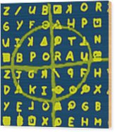 Zodiac Killer Code And Sign 20130213p68 Wood Print by Wingsdomain Art and Photography