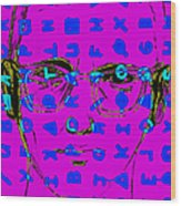 Zodiac Killer With Code And Sign 20130213m180 Wood Print