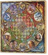 Zodiac Mandala Wood Print