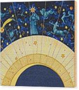 Zodiac Moon Wood Print