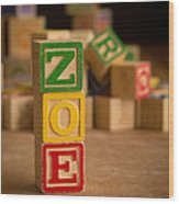 Zoe - Alphabet Blocks Wood Print