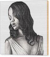 Zoe Saldana Wood Print