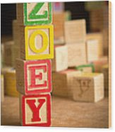 Zoey - Alphabet Blocks Wood Print