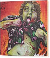 Zombie Chunk Wood Print