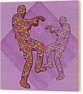 Zombie Funny Comic Cartoons Dance Zombie Dance Grand   36x12 Horizontal Landscape Energy Graphics Ba Wood Print