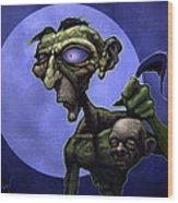 Zombie Head-hunter Wood Print