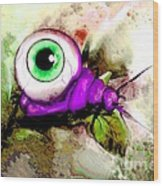 Zombie Insect Wood Print
