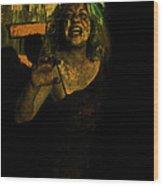 Zombie Night Wood Print