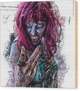 Zombie Want You Wood Print