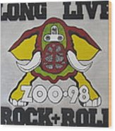Zoo 98 Elephant Rock And Roll Wood Print