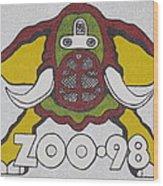 98 Kzew Radio Logo Wood Print