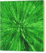 Zoom In Green Wood Print