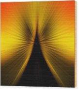 Zoom Orange Yellow Wood Print