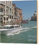 Zooming On The Canals Of Venice Wood Print