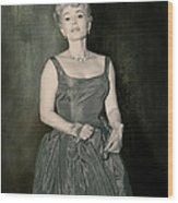 Zsazsa Gabor In The 1950's Wood Print
