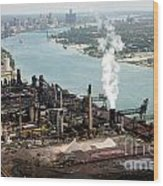 Zug Island Industrial Area Of Detroit Wood Print