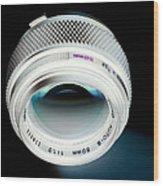 Zuiko 50mm F1.2 Wood Print