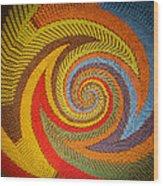 Zulu Basket Detail  Wood Print