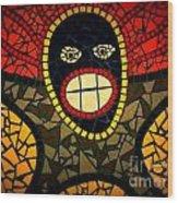 Zulu Man In Lomo Wood Print