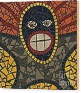 Zulu Man Wood Print