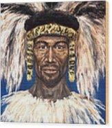 Zulu Warrior Wood Print